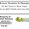 Animal Advocacy Trap ID Label
