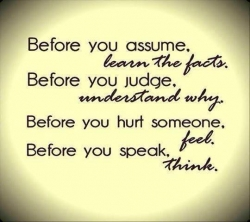 Before you judge